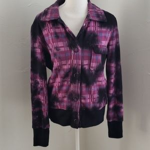 Roxy plaid flannel jacket sz L